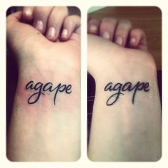 Mine.   Agape. Selfless, unconditional love. Always. <3    (Day of & one week later.)