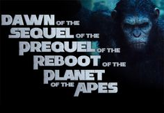 "A Tribute To The New Planet Of The Apes Movie. My kids asked me when the ""real"" Planet of the Apes remake is coming out...I had no answer."