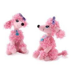 Pink Poodle Mini Bean Bag (1) Party Supplies