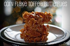 Corn Flake Toffee Butterflies (Mackintosh Toffee, Butter or Margarine, Milk, Corn Flakes & Coconut(optional).)  - Nurse Loves Farmer