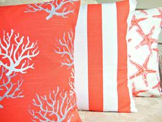 Decorative Throw Pillows Nautical Cushion Covers by SeamsToMe23, $51.00
