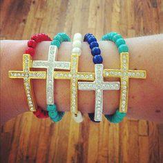 Betsy Pittard beaded bracelets! We die.