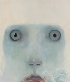Moon Chanpil, A Predator, Oil on canvas, 53 X 46 cm, 2014 | See more art on iheartmyart.com | #art | #painting | #portrait