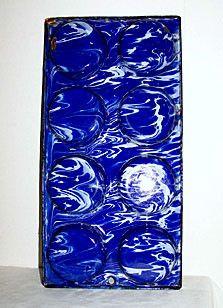 "Graniteware / Enamelware - Cobalt & White Large Swirl - Muffin Tin - 14 1/4"" x 7 1/4"""