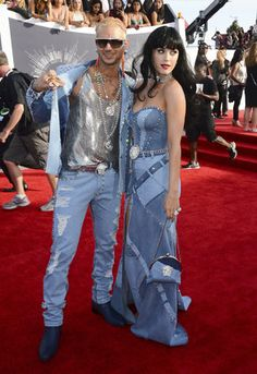 2014 MTV Video Music Awards - Arrivals Riff Raff, left, and Katy Perry arrive at the MTV Video Music Awards at The Forum on Sunday, Aug. 24, 2014, in Inglewood, Calif. (Photo by Jordan Strauss/Invision/AP)