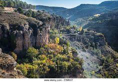 La Hoz del Huecar en otoño en las afueras de Cuenca, Castilla-La Mancha, centro de España - Imagen de archivo