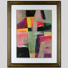 """Neal Doty Signed """"Abstract 012"""" Original 21.5"""" x 29.5"""" Acrylic Painting (Framed to 33"""" x 41"""") at Pristine Auction"""