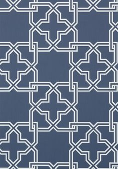 Pierson #wallpaper in #navy from the Graphic Resource collection. #Thibaut