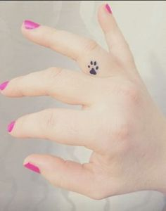 Finger Tattoos Paw Print, - why not visit our site for more inspirational tattoo ideas? Mini Tattoos, Dog Tattoos, Trendy Tattoos, Animal Tattoos, Body Art Tattoos, Tattoos For Women, Family Tattoos, Chihuahua Tattoo, Finger Tattoos