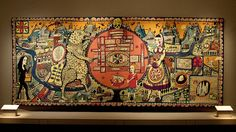 Map Of Truths And Beliefs by Grayson Perry, tapestry, 2011. (via Flickr).