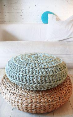 Floor Cushion Crochet  Thick Cotton por lacasadecoto en Etsy, €59.00
