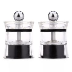 2pcs Pepper Spice Acrylic Grinder Seasoning Manual Cooking Tools