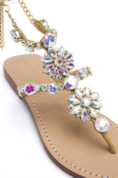A Girls Best Friend Sandals By Mystique (Gold Ab)