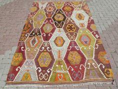 "Anatolia Turkish Antalya Barak Kilim 63 7"" x 102 3"" Area Rug Carpet Wool | eBay"