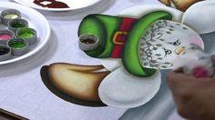 PARTE 2.-   PINTANDO SOBRE TELA- MUÑECO NAVIDAD- BRASIL.-   Mulher.com 04/10/2013 Luciano Menezes - Pintura boneco de neve Parte 2/2