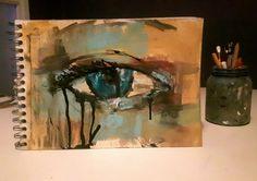Frank Forsman art. From my sketchbook. #art#acrylic#painting#eye #sketchbook #artjournal #dawing #draw
