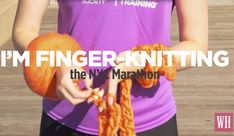 This woman is planning to conquer the NYC marathon - while knitting! No, she's not a grandma. Yes, she's a total badass.