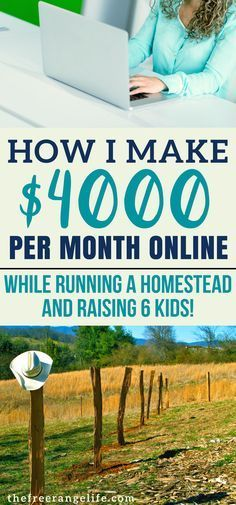 Make money online while being a SAHM, running a homestead. You can make money bl… - Money Online