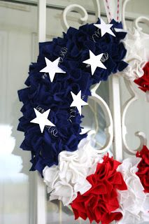 DIY July 4th crafts: Patriotic felt wreath from Creative Capital B