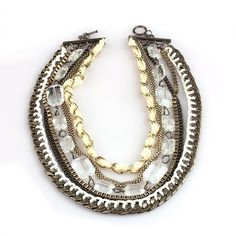 Eclectic Elegance Chunky Rhinestone Statement Necklace