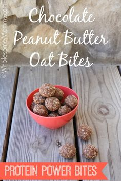 Chocolate Peanut Butter Oat Bites From WholesomeMommy.com