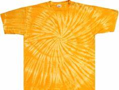 Astronaut Graphic Spiral Tie Dye T-Shirt Yellow