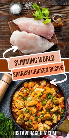 Slimming World Spanish Chicken recipe syn free for slow cooker Chicken Breast Recipes Slow Cooker, Slow Cooker Recipes, Chicken Recipes, Slow Cooker Slimming World, Slimming World Recipes, Slimming World Chicken Dishes, Spanish Chicken, Chicken Breast Fillet, Speed Foods