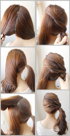 Side Hair Twist Pony Tail Tutorial