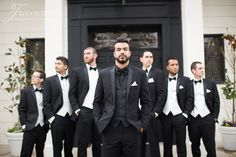 Groom and Groomsmen | Friar Tux | Irvine Wedding | Wyndham Hotel | Chapel Wedding | Community Church of Corona Del Mar | San Diego Wedding Photography | Black and White Wedding Decor | Rachel Jay of France Photographers