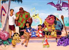 Disney Store Lithograph: Stitch: The Movie 2003 Mint