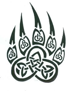 Celtic Bear Paw Tattoo - tattoo for right-shoulder Claw Tattoo, Hawaiianisches Tattoo, Norse Tattoo, Celtic Tattoos, Viking Tattoos, Gaelic Tattoo, Tattoo Wolf, Wiccan Tattoos, Inca Tattoo