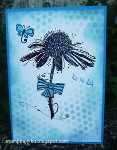 stamping rika: Card using Darkroom Door Carved Flowers and Fine Flowers Rubber…