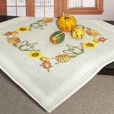 Набор для вышивания скатерти (80х80 см, счетный крест)
