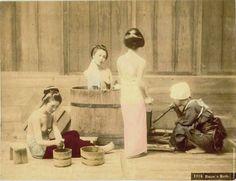 Woman Bathing - Japan 130 Years Ago. Photos By Kusakabe Kimbei