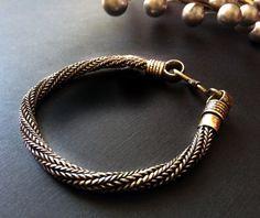 Silver Rope Chain Bracelet Flat Men Snake