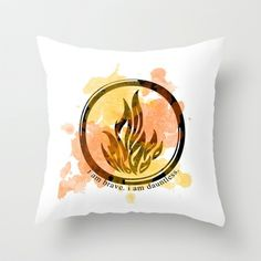 Divergent Dauntless Symbol Throw Pillow by hayimfabulous - $20.00