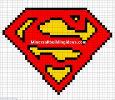 Minecraft Pixel Art Templates: Superman logo