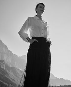 Big Country: Our Autumn Looks - Maison Gassmann Autumn Look, Fall Looks, Fall Winter, Iris Von Arnim, Diana, Cashmere Pullover, Big Country, Mantel, Lace Skirt