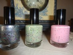 Creamy Three Pack: Custom-Blended Nail Polish Glitter Nail Polish by parissparkles $21.50 - just ordered them!