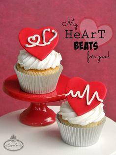 Heart Beat Valentine fondant tutorial