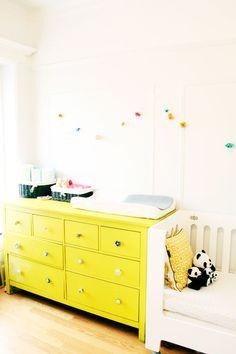 Lovely pop of color in Naomi Davis' home.
