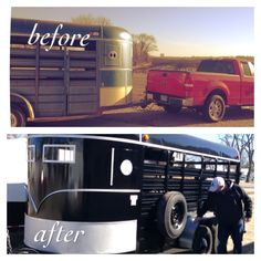 WW 1980 horse trailer redo! Black paint really makes the silver pop!
