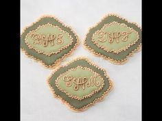 How to Decorate Monogram Holiday Cookies with Royal Icing Transfers - YouTube