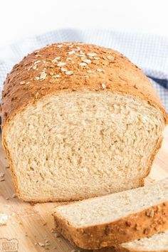 Honey Oat Bread is one of my favorite bread recipes! The oats give it a great texture and the honey the best flavor! As always the best part is the aroma of freshly baked bread all throughout the house! Healthy Sandwich Bread Recipe, Oat Bread Recipe, Honey Oat Bread, Easy Bread Recipes, Cooking Recipes, Fun Recipes, Vegetarian Recipes, Cottage Meals, Bread Baking