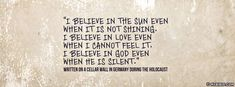 I Believe In God Even When He Is Silent - Facebook Cover Photo