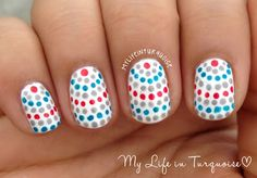 My Life in Turquoise: Tri Polish Challenge - may #2 - Dots Everywhere