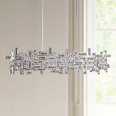 "Vermeer Polished Chrome Crystal 35""W 6-Light Island Pendant - #7V988 