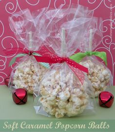 Soft Caramel Popcorn Balls ...this recipe is fabulous because it gives you that amazing caramel flavor without a lot of fuss -these stay soft and gooey...Warning: Highly Addictive!