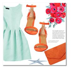 Coral mint by starlight667 on Polyvore featuring polyvore, fashion, style, Aquazzura, Dorothy Perkins and clothing