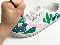 Cactus Tennis Shoes  | iLoveToCreate